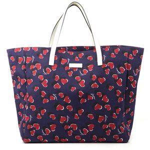 Auth Gucci Heartbeat Navy Red Handbag #3733G20